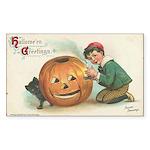 Pumpkin Boy Rectangle Sticker 10 pk)