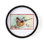 Flying Pumpkin Wall Clock