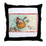 Flying Pumpkin Throw Pillow