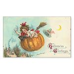 Flying Pumpkin Rectangle Sticker 50 pk)