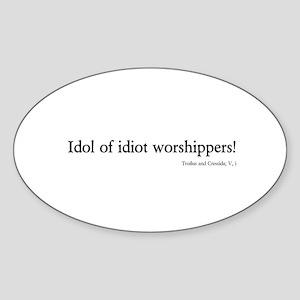 idol Oval Sticker