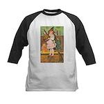 Witch Girl Kids Baseball Jersey
