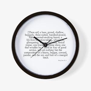 longest insult Wall Clock