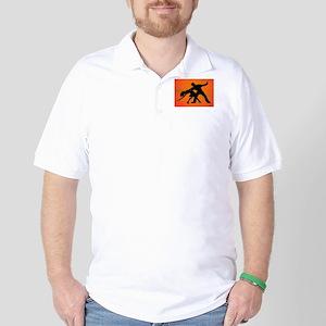 Dazzling Dance Silhouettes Golf Shirt