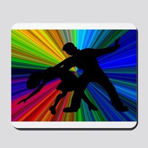 Dazzling Dance Silhouettes Mousepad