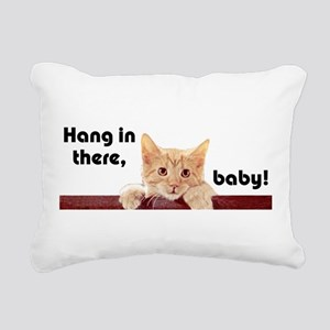 Hang In There Baby Kitte Rectangular Canvas Pillow