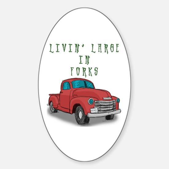 Livin' Large Oval Decal