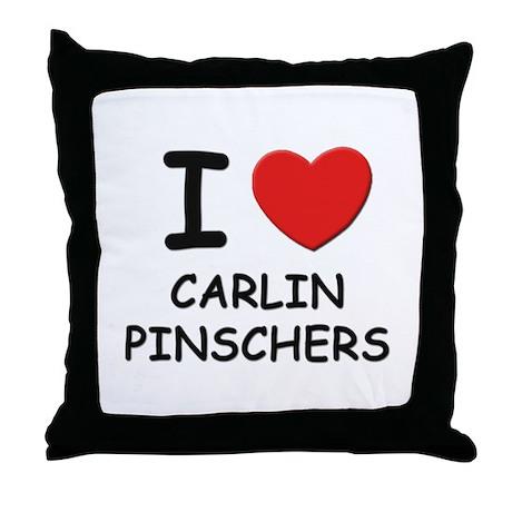 I love CARLIN PINSCHERS Throw Pillow