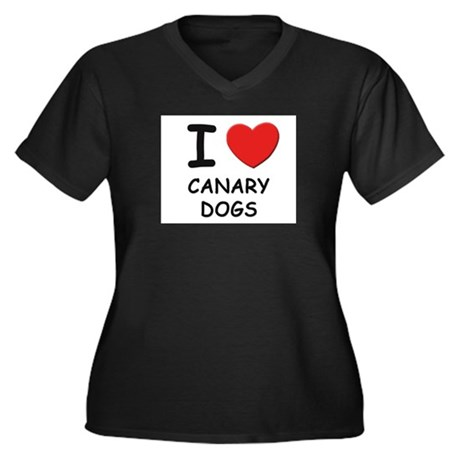I love CANARY DOGS Women's Plus Size V-Neck Dark T