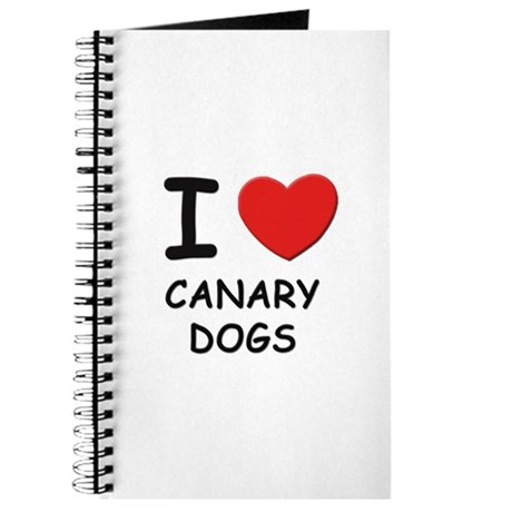 I love CANARY DOGS Journal