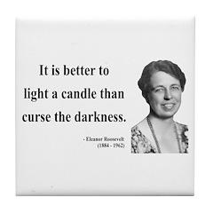 Eleanor Roosevelt 6 Tile Coaster