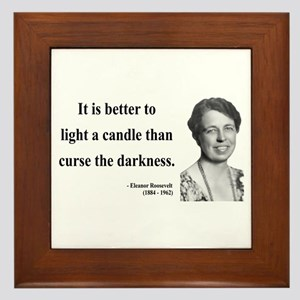 Eleanor Roosevelt 6 Framed Tile