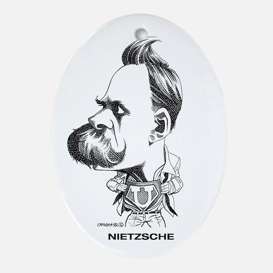 Nietzsche Oval Ornament