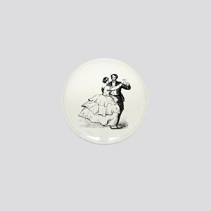 Old-time Ballroom Dancers Mini Button