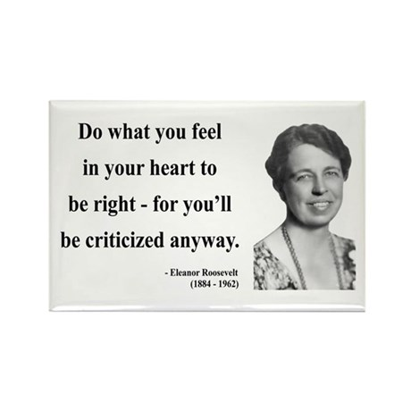Eleanor Roosevelt 7 Rectangle Magnet (100 pack)