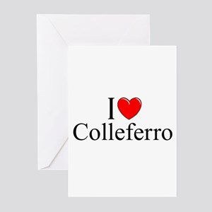 """I Love (Heart) Colleferro"" Greeting Cards (Pk of"