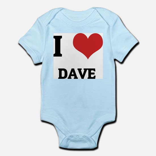 I Love Dave Infant Creeper