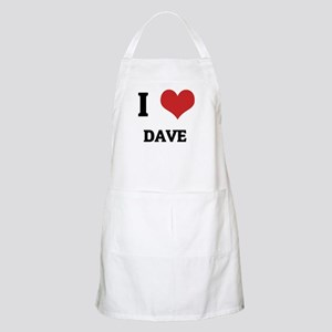I Love Dave BBQ Apron