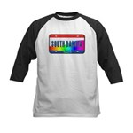 South Dakota Rainbow State Kids Baseball Jersey