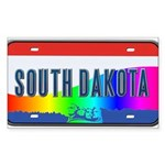 South Dakota Rainbow State Sticker (Rectangle)