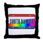 South Dakota Rainbow State Throw Pillow