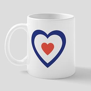 Mod Target Heart Mug