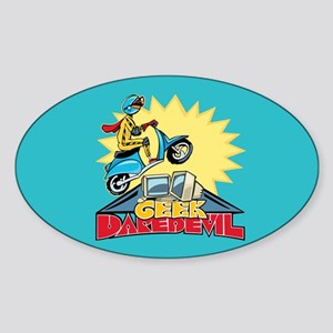 Geek Daredevil Jump Oval Sticker