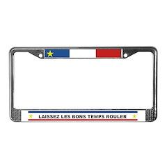 'LAISSEZ LES BONS TEMPS' License Plate Frame