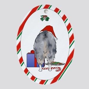Nothin' Butt Aussie Xmas Oval Ornament