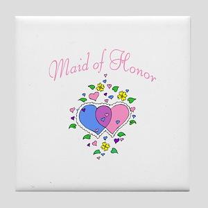 Maid Of Honor (Hearts) Tile Coaster