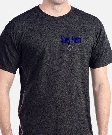 Navy Mom with anchor T-Shirt