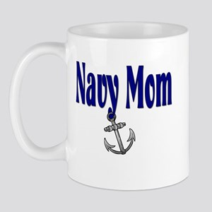 Navy Mom with anchor Mug