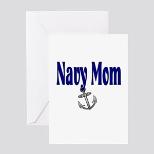 Navy Mom with anchor Greeting Card