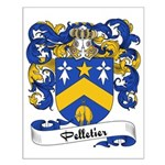 Pelletier Family Crest Small Poster