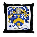 Pelletier Family Crest Throw Pillow