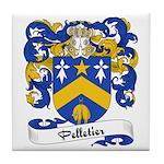 Pelletier Family Crest Tile Coaster