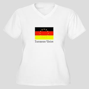 Das EU Women's Plus Size V-Neck T-Shirt
