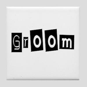 Groom (Square) Tile Coaster