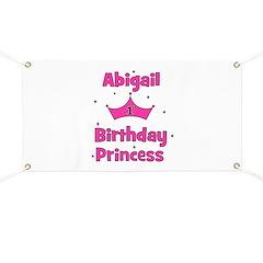 1st Birthday Princess Abigail Banner