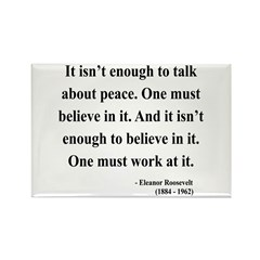 Eleanor Roosevelt Text 10 Rectangle Magnet (100 pa