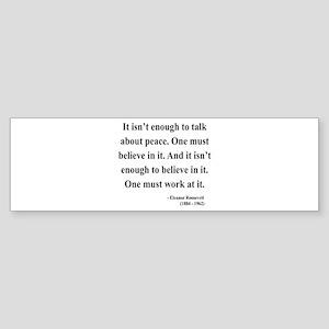 Eleanor Roosevelt Text 10 Bumper Sticker