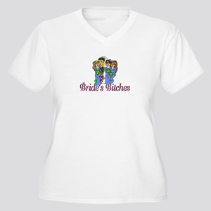 Bride's Bitches Women's Plus Size V-Neck T-Shirt