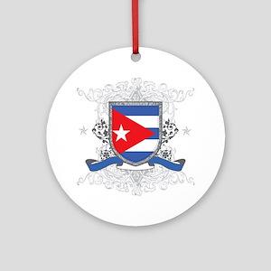 Cuban Shield Ornament (Round)