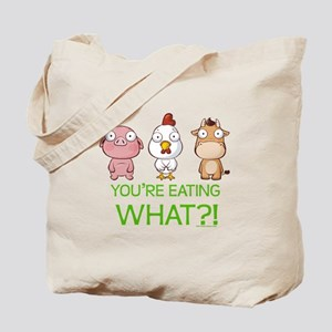 You're eating WHAT! dark Tote Bag