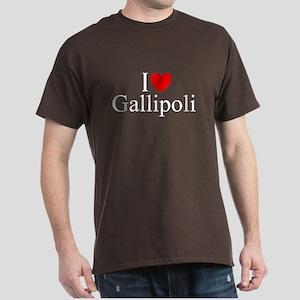 """""""I Love (Heart) Gallipoli"""" Dark T-Shirt"""