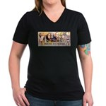 Friend to Friend Women's V-Neck Dark T-Shirt