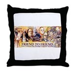 Friend to Friend Throw Pillow