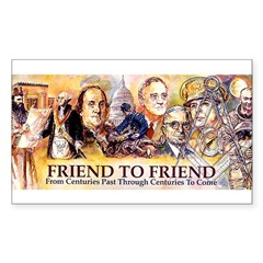 Friend to Friend Rectangle Decal