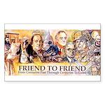 Friend to Friend Rectangle Sticker