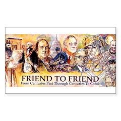 Friend to Friend Rectangle Sticker 10 pk)